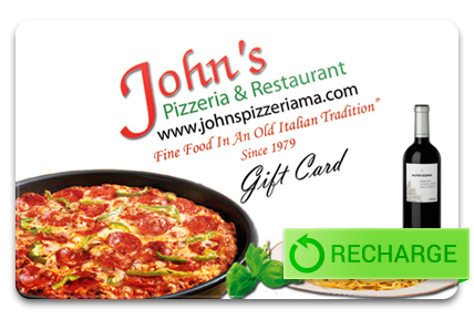 Recharge your John's Pizzeria Card