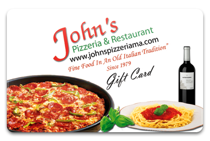 John's Pizzeria Physical Gift Card